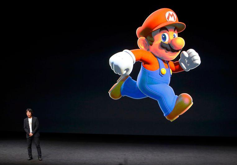 Shigeru Miyamoto van Nintendo maakt het nieuws bekend.