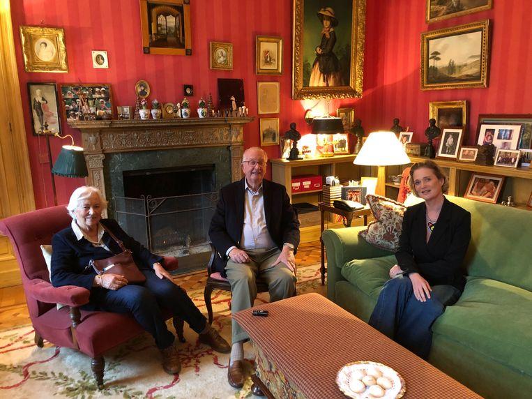Koning Albert en koningin Paola met Delphine Boël. Beeld RV