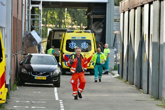 Bij een bedrijfsongeval in Maarssen raakte een persoon gewond.