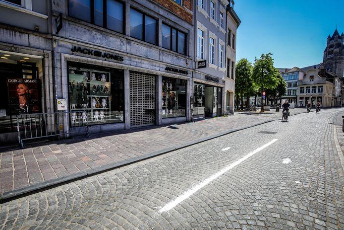 De dief sloeg toe in de winkelstraten van Brugge.