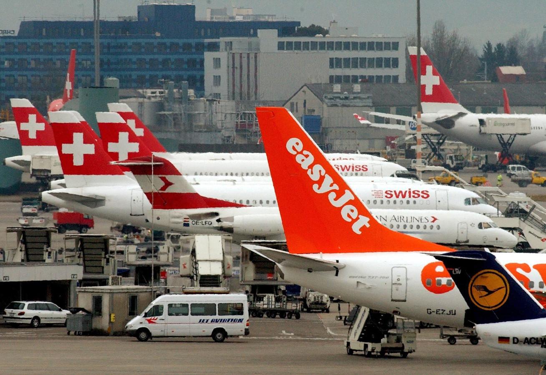 Vliegveld van Zürich.
