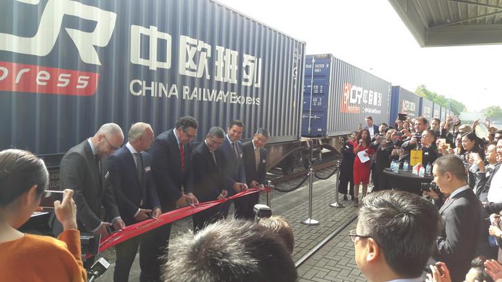 Deze trein rijdt 3x per week tussen Tilburg en China