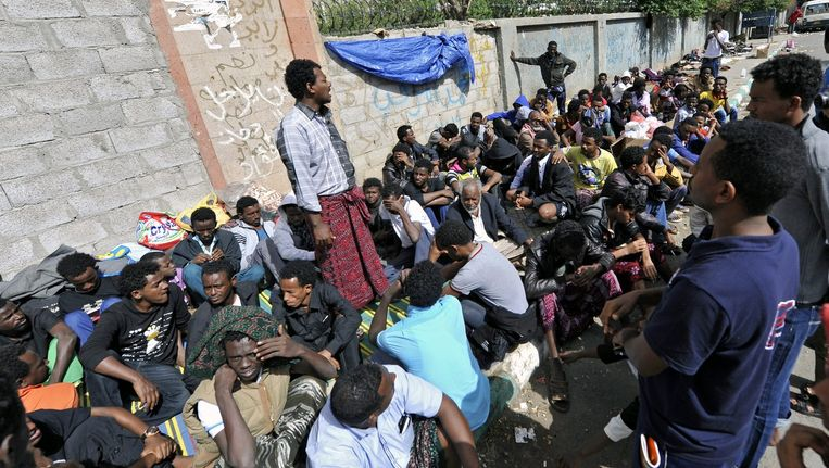 Vluchtelingen uit Eritrea in Jemen. Beeld epa