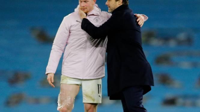 """De Bruyne blijft sukkelen met lichte dijblessure, Guardiola: """"Wanneer hij weer fit is, sluit hij opnieuw aan"""""""