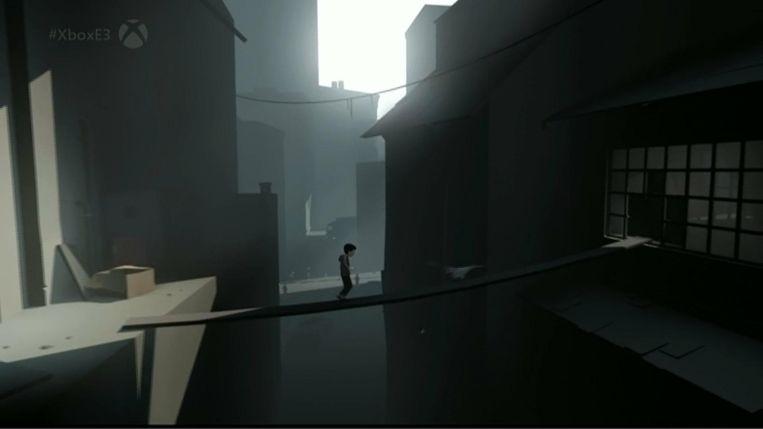 Een beeld uit 'Inside'. Beeld Playdead