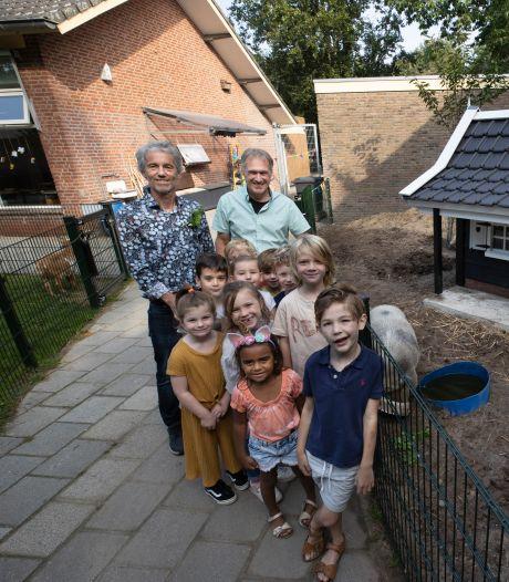 Dieren bij Helmondse Wilhelminaschool hebben een nieuw verblijf
