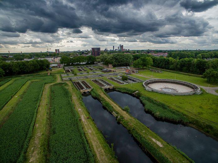 Overzicht van de vroegere waterzuivering in Moerenburg.