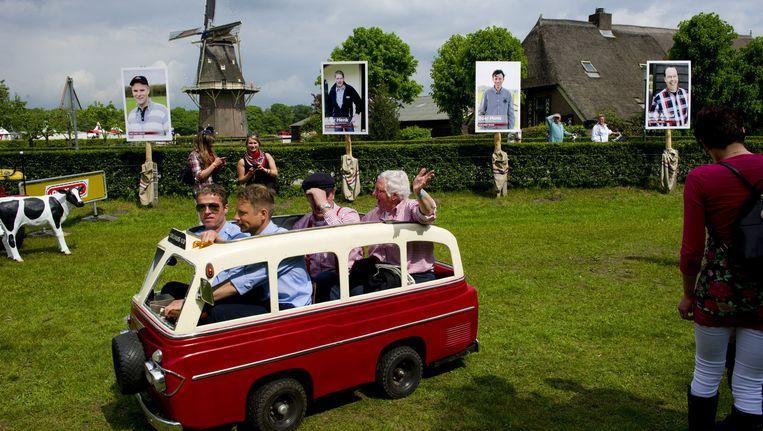 Tijdens het festival Boer zoekt Vrouw LIVE werd in 2012 het nieuwe seizoen van het televisieprogramma afgetrapt. Beeld anp