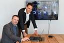 John van Laerhoven (l) en Pieter Vermeer van Everbridge zorgden dat 13 miljoen mensen een NL-Alert kregen.