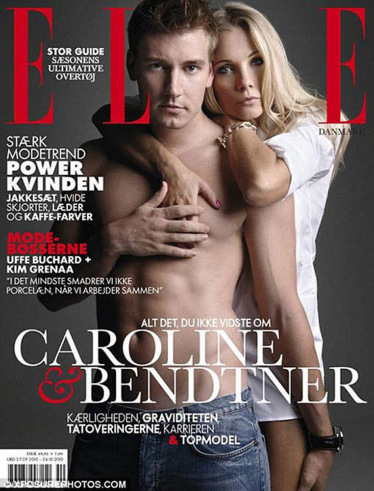 Barones Caroline Luel Brockdorff en Nicklas Bendtner. Beeld UNKNOWN