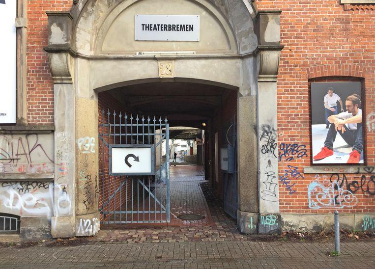 Het theater waar Afd-politicus Frank Magnitz aangevallen werd.  Beeld AP
