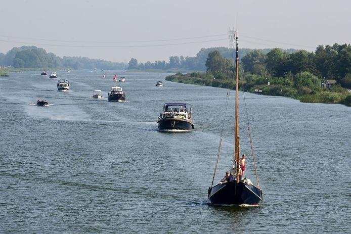 De Randmeren worden steeds populairder onder watertoeristen.
