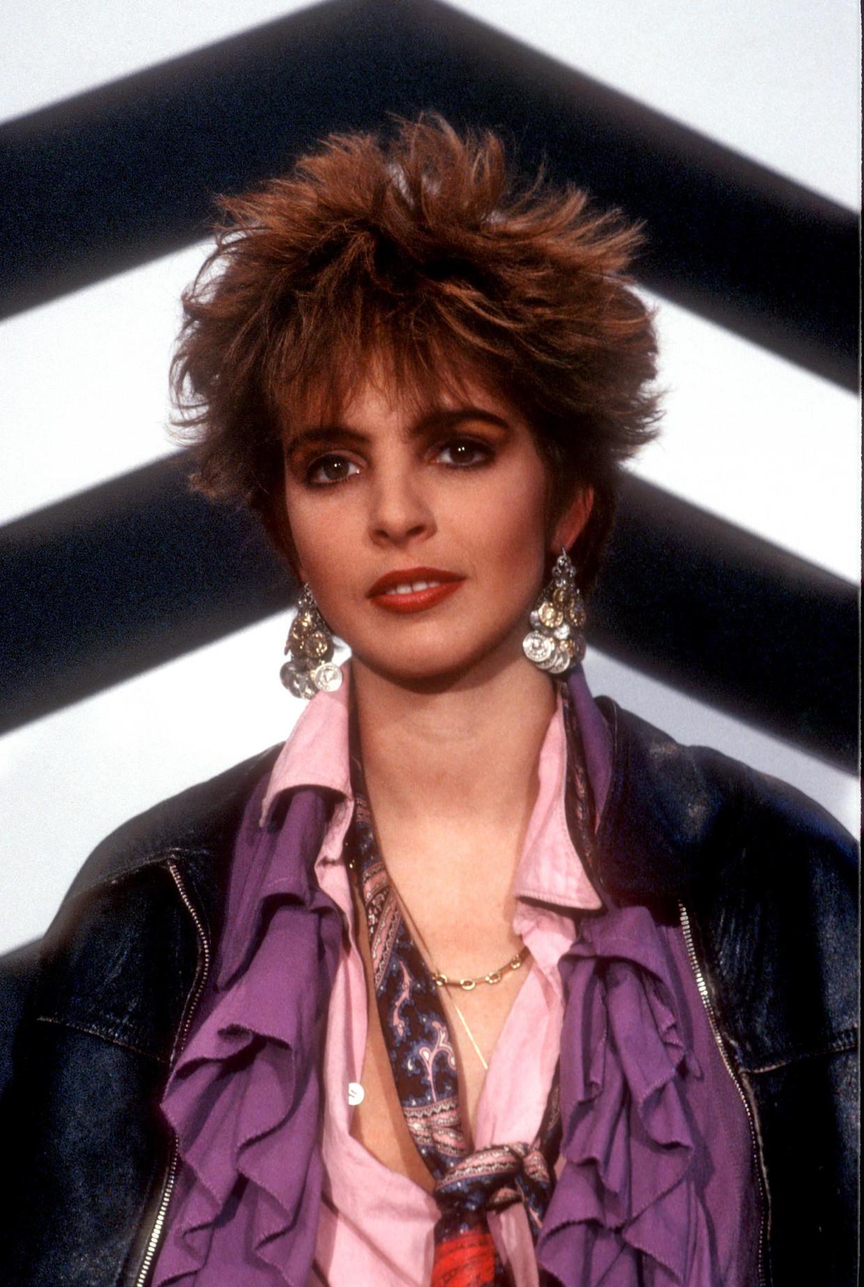 Nena in 1986, toen nog zangeres van de band die drie jaar eerder een hit had met het nummer 99 Luftballons. Beeld Getty