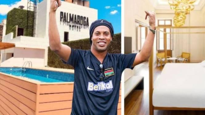 Assigné à résidence, Ronaldinho séjourne dans un hôtel de luxe avec bar à cocktail et piscine sur le toit