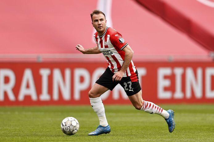Mario Götze heeft nog geen enkele wedstrijd voor PSV gespeeld waarin publiek aanwezig was.