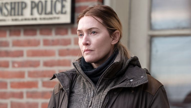 Kate Winslet als Mare Sheehan in 'Mare of Easttown'. Beeld HBO