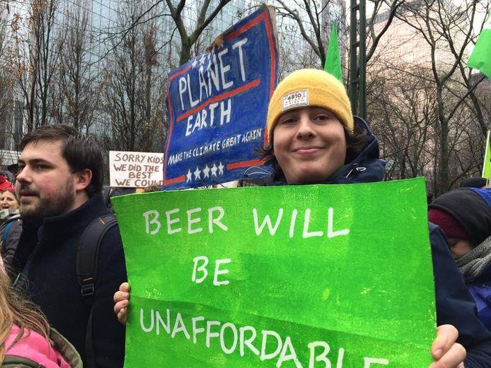 Iepers gemeenteraadslid Jordy Sabels neemt zelf deel aan de klimaatbetogingen.