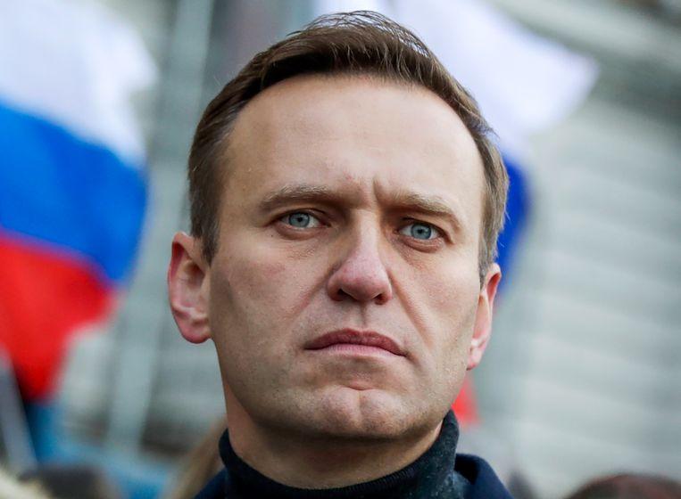 Russische oppositieleider Aleksej Navalny. De westerse landen kunnen de aanslag op hem, zeker nu het om novitsjok gaat, moeilijk over hun kant laten gaan. Beeld AP
