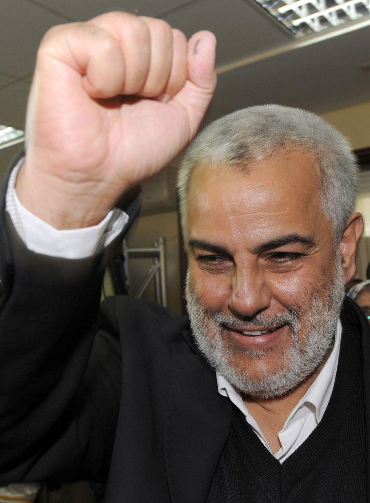 Abdelilah Benkirane, hoogstwaarschijnlijk de nieuwe premier van Marokko. ©ANP Beeld