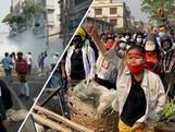 Heftige beelden van protesten tegen staatsgreep Myanmar: drie doden en gewonden