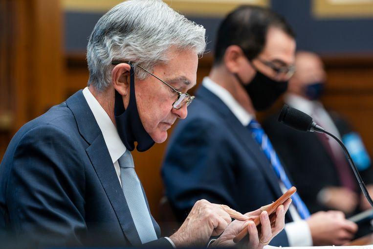 Fed-baas Jerome Powell, eind vorig jaar. Beeld AP
