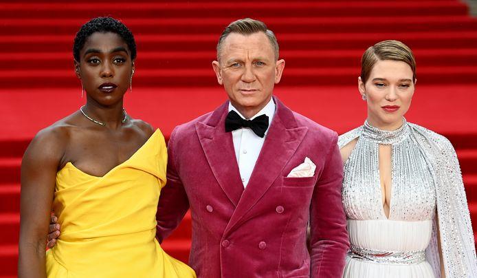Lashana Lynch, Daniel Craig et Lea Seydoux