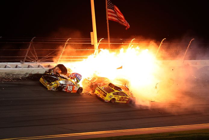 De crash in Daytona.