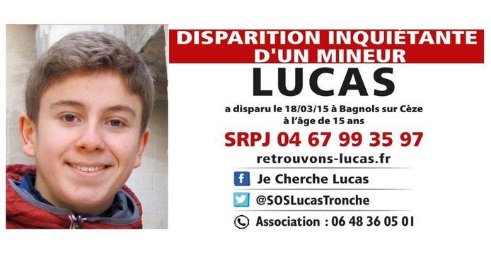 Le 18 mars 2015, Lucas Tronche, 15 ans à l'époque, avait disparu après avoir quitté son domicile pour se rendre à un cours de natation dans une commune voisine