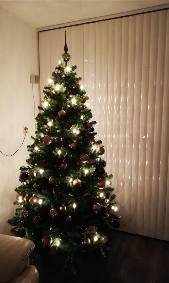 De kerstboom van Marianne Maters: een plaatje.