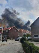 Brand in Eindhoven, van veraf te zien.