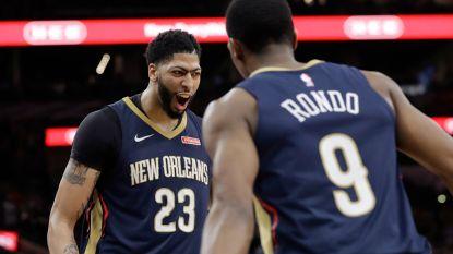 Achtste zege op rij voor New Orleans in NBA