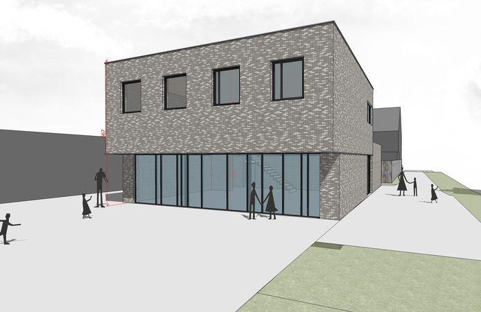 Zo zal de nieuwbouw van Gidsen Sint-Godelieve er uitzien.