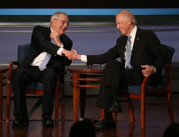 Walter Mondale met Joe Biden in 2015.