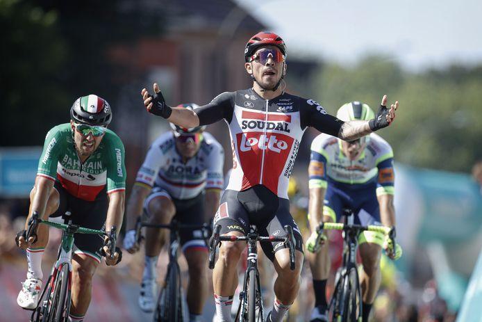 Caleb Ewan wint de vijfde etappe in de Benelux Tour.