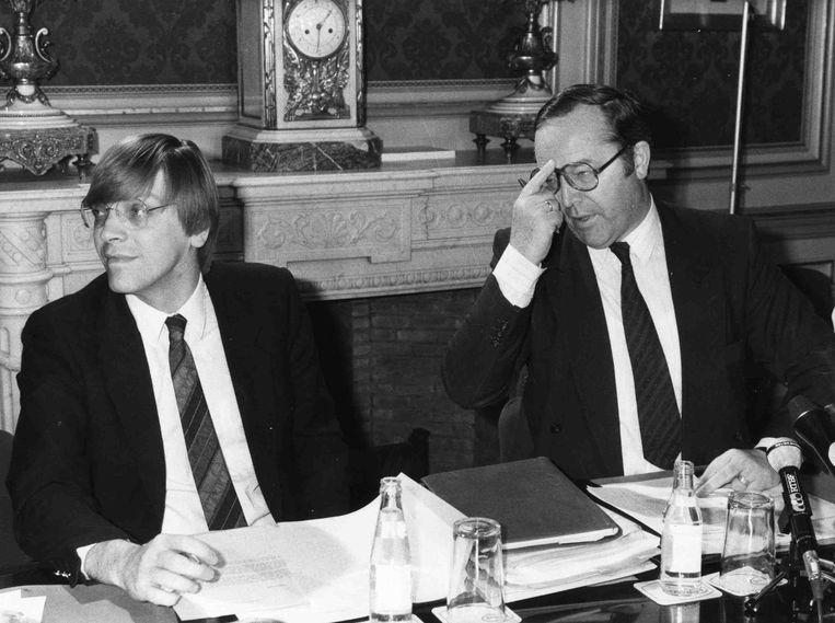 Van Cauwelaert over Guy Verhofstadt en Wilfried Martens (hier in 1988). 'Ik denk dat Verhofstadt die wrok nog altijd koestert.' Beeld IMAGEGLOBE