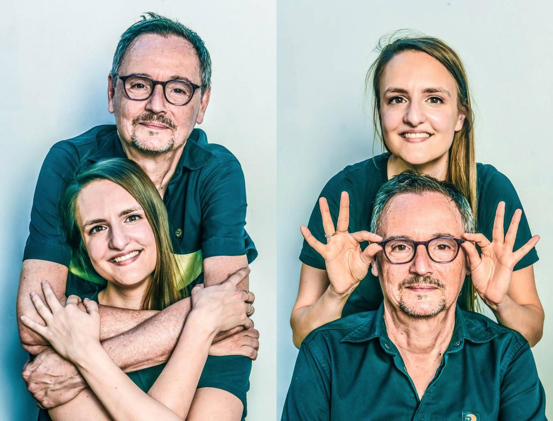 Charlotte en Mark Coenen: 'Ik heb de bourgondische genen van mijn vader geërfd. Ik sla het ontbijt over om de rest van de dag meer te kunnen eten' Beeld Koen Bauters / Humo