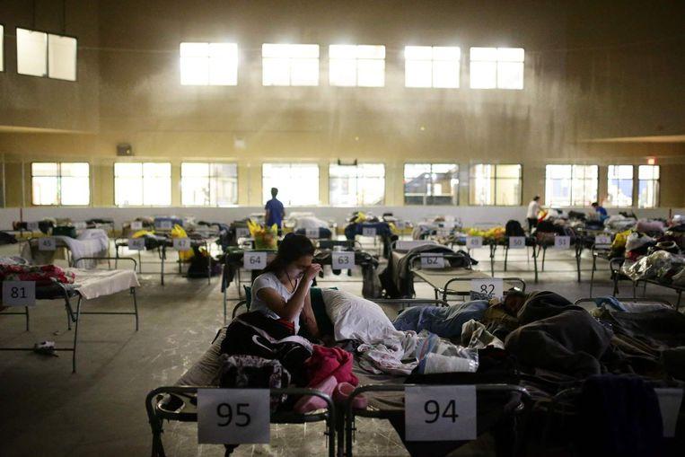 Geëvacueerde inwoners worden opgevangen in Lac la Biche. Beeld afp