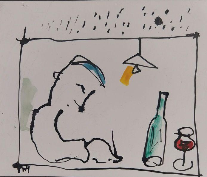 Wim Hofman illustratie Vers op Zondag