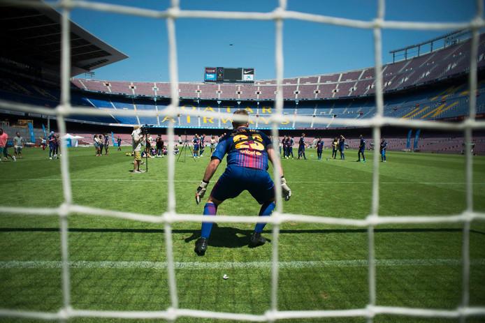 Matthew Lentink in Camp Nou.