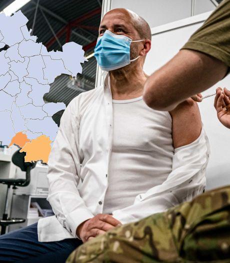 KAART | Veel gemeenten zonder besmettingen, maar Veluwe en Achterhoek vallen op in negatieve zin