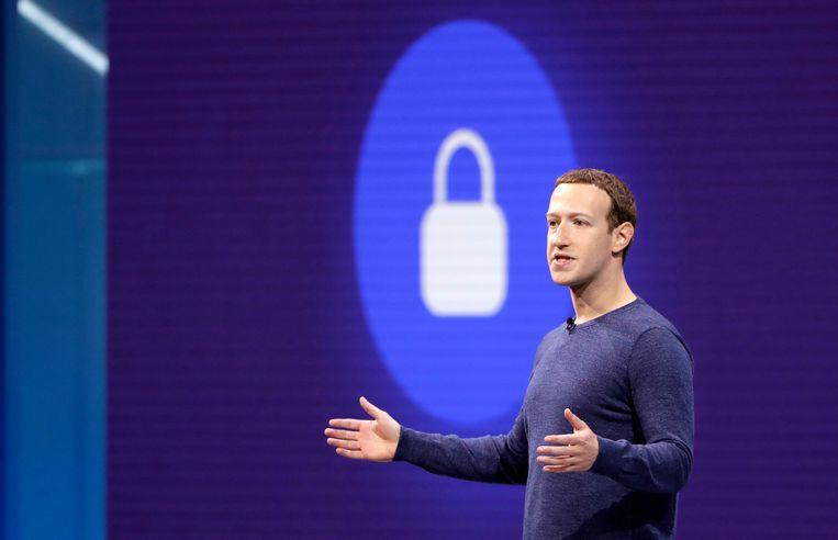 Facebook-oprichter en CEO Mark Zuckerberg