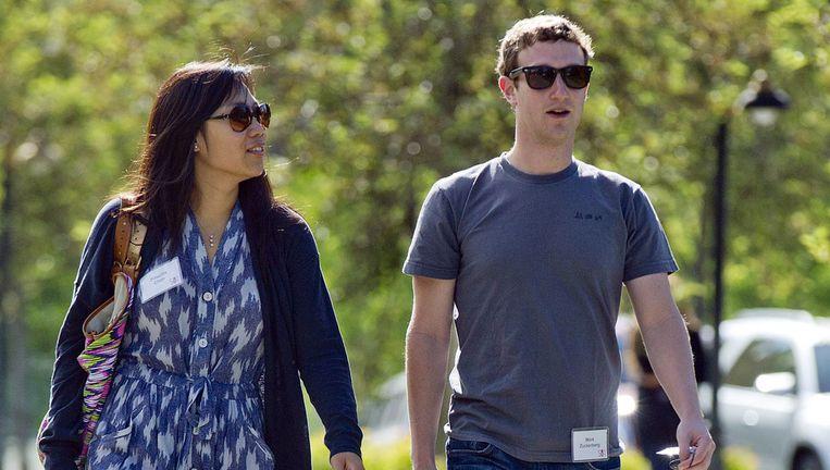 Priscilla Chan en Mark Zuckerberg Beeld ap
