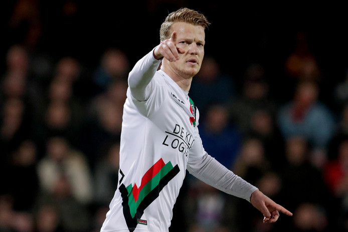 Ferdy Druijf of NEC Nijmegen celebrates 2-1 NETHERLANDS, BELGIUM, LUXEMBURG ONLY COPYRIGHT BSR/SOCCRATES