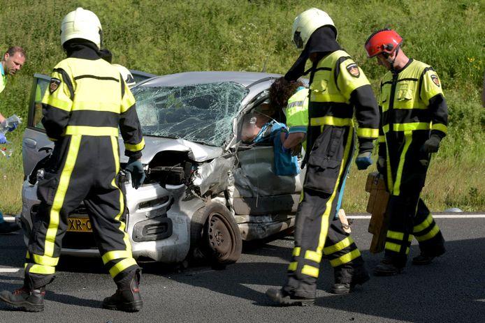 Ongeluk op oprit van A58 bij Breda