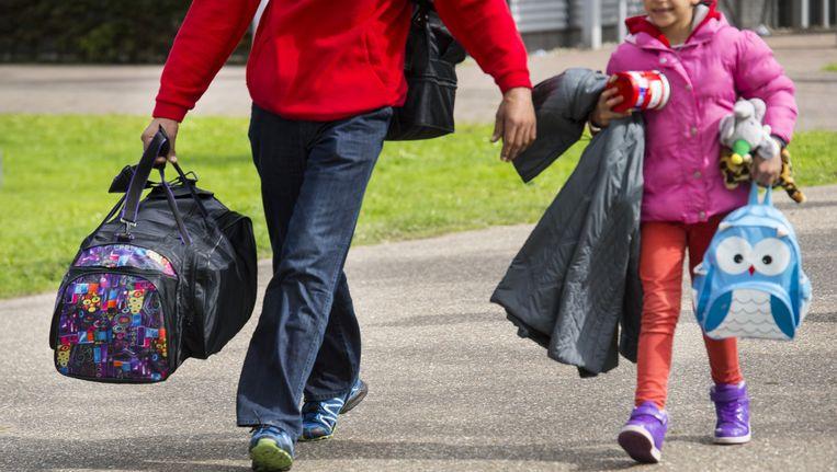 Vluchtelingen worden opgevangen in Oirschot Beeld anp