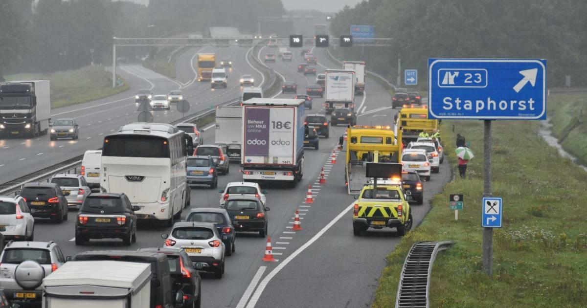 Ongevallen zorgen voor fileleed rond Apeldoorn, Deventer, Meppel en Zwolle.