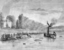 Aquarel van Johan Derk Gebly met een impressie van het drama, gepubliceerd in de Middelburgse Courant van 12 augustus 1826.