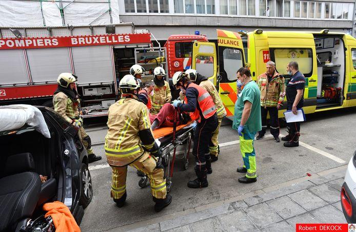 De bestuurder werd overgebracht naar het ziekenhuis.