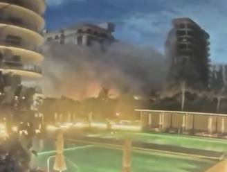Dramatische beelden: bewakingscamera filmt moment waarop flatgebouw in Florida instort
