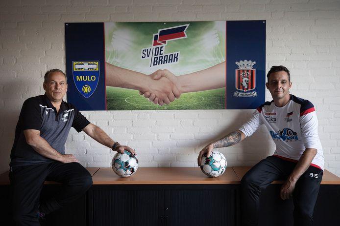 Wim de Roy (l) en Patrick Meinhardt staan ook in het seizoen 2021-2022 aan het roer bij SV De Braak